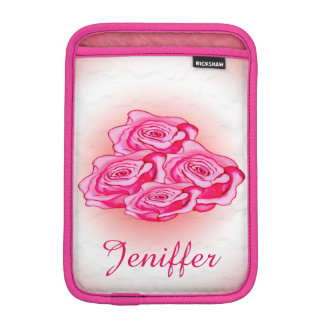 Pink bouquet of roses iPad mini sleeves