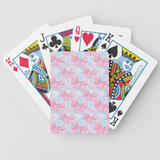 Pink Bow Bicycle Playing Cards