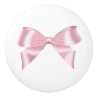 Pink Bow Collection Ceramic Knob