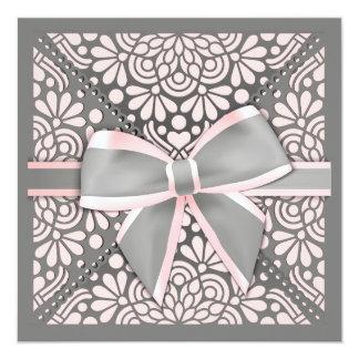 Pink Bow Invitation