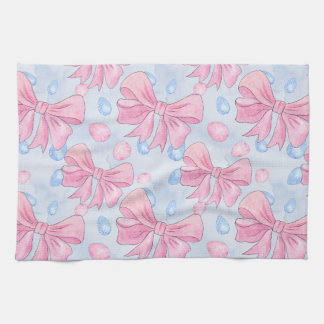 Pink Bow Kitchen Towel