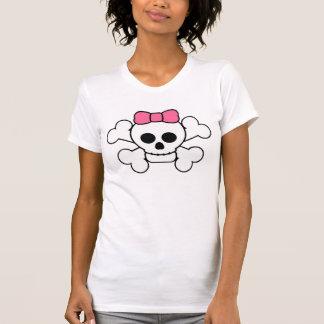 pink bow skull design T-Shirt