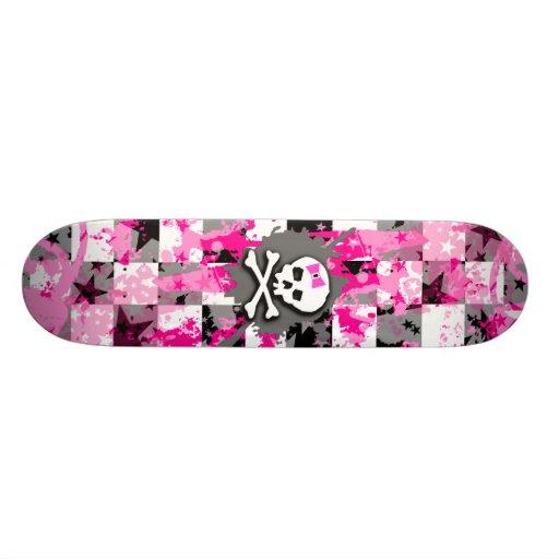 Pink Bow Skull Skateboard Decks