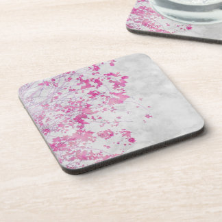 """""""Pink Branches"""" Cork Coasters"""