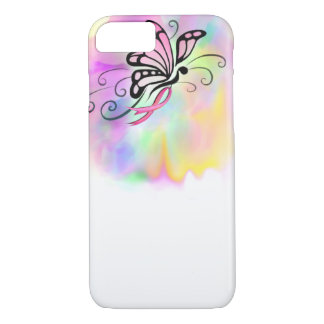 pink breast cancer ribbon, butterfly watercolor iPhone 7 case