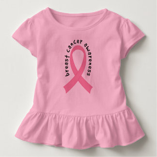 Pink Breast Cancer Supporter Ribbon Toddler Tee