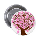 Pink Breast Cancer Tree of Hope 2 Inch Round Button