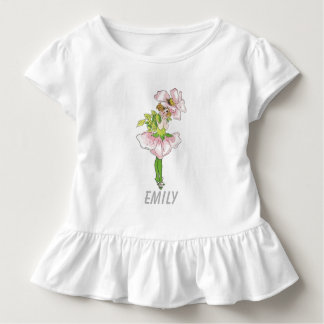 Pink Briar Rose Flower Floral Funny Cute Girl Toddler T-shirt