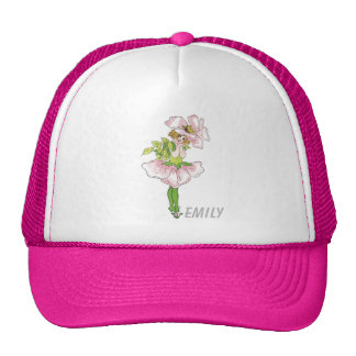 Pink Briar Rose Flower Floral Funny Cute Girl Trucker Hat