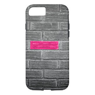 Pink Brick In A Black & White Wall iPhone 7 Case