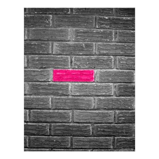 Pink Brick In A Black & White Wall Custom Letterhead