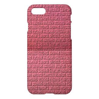 Pink brick wall pattern iPhone 7 case