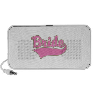 Pink Bride Design with Swash Tail Laptop Speakers
