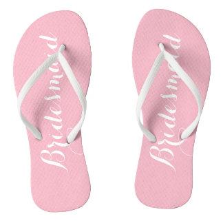 Pink Bridesmaid Flip Flops