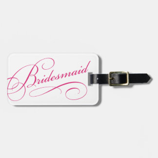Pink bridesmaid sweet bachelorette luggage tag
