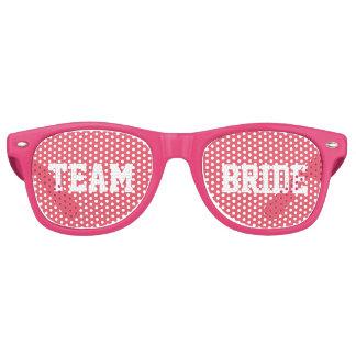 Pink Bridesmaid Team Bride Retro Sunglasses