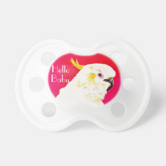 Pink bright Cockatoo Pacifier