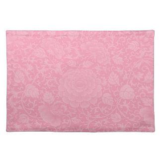 Pink Brocade Placemat