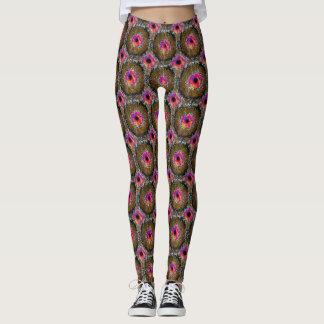 Pink Brown Black Leggings