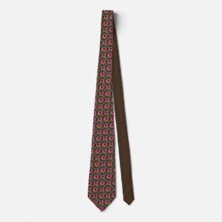 Pink Brown Black Necktie