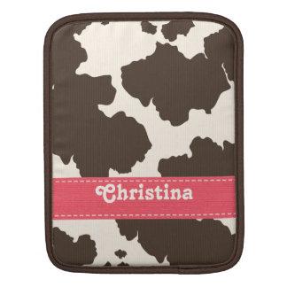 Pink Brown Cowhide iPad Sleeve