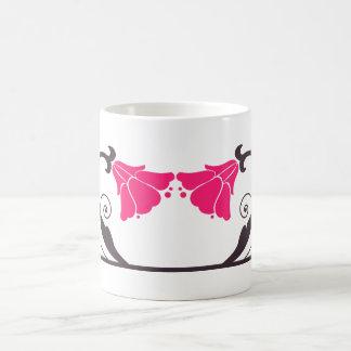 Pink,Brown,Flowers Mug