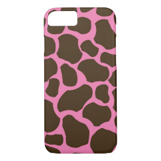 Pink Brown Giraffe Spots iPhone 7 case