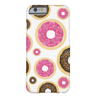 Pink & Brown Sprinkle Donuts Modern Fun Cute Barely There iPhone 6 Case