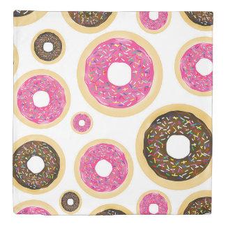 Pink & Brown Sprinkle Donuts Modern Fun Cute Duvet Cover