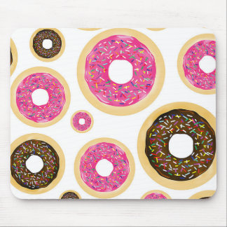 Pink & Brown Sprinkle Donuts Modern Fun Cute Mouse Pad