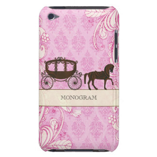 Pink & Brown Vintage Swirls  & Wedding Horse iPod Touch Case