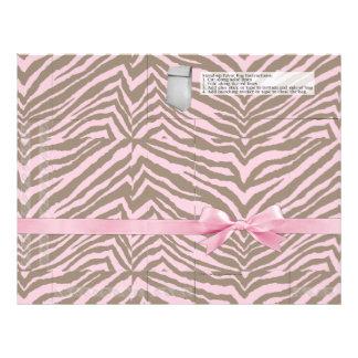 Pink/Brown Zebra w/Ribbon Bow, Favor Bag Pages