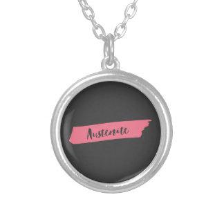 Pink Brush Jane Austen Austenite Silver Plated Necklace