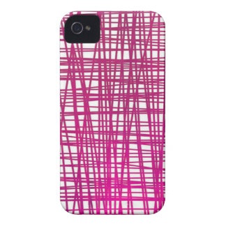 Pink Brushstroke Watercolor Stripes iPhone 4 Case-Mate Cases