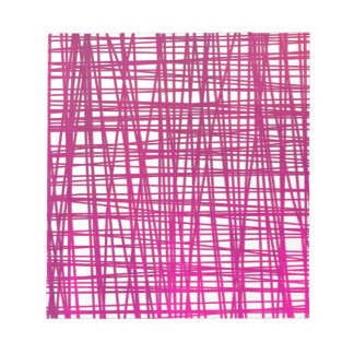 Pink Brushstroke Watercolor Stripes Notepad