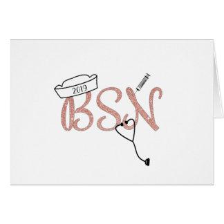 Pink BSN graduation thank you photo + message Card