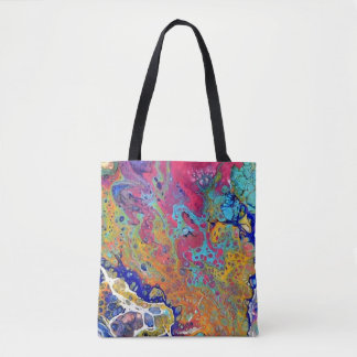 Pink Bubble Acrylic Pour Two Tote