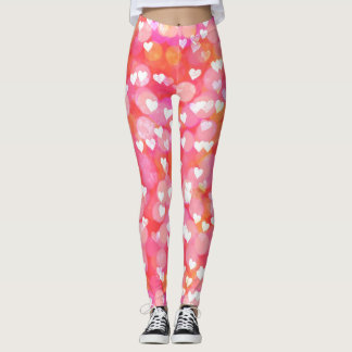 Pink Bubble Hearts Leggings
