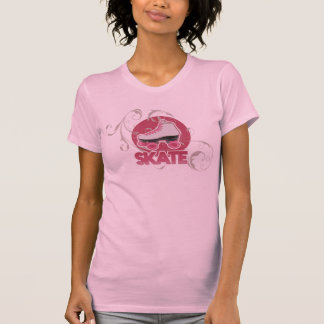 Pink Bubble Swirl Roller Skate, Skating T Shirts