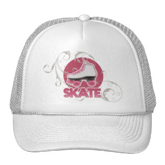 Pink Bubble Swirl Roller Skate, Skating Trucker Hat