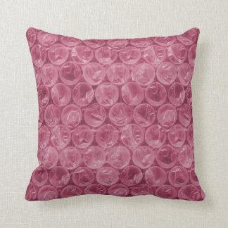 Pink bubble wrap pattern throw pillow