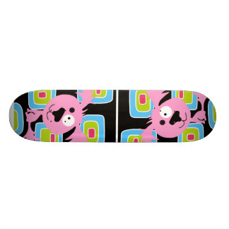 Pink Bubblegum Retro Dog Custom Skate Board