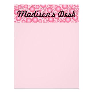 Pink Bubbles Banner Letterhead