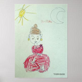 Pink Buddha Poster