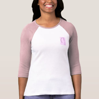 Pink Budgie Drawing T-Shirt