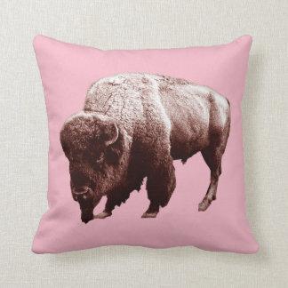 Pink Buffalo Throw Pillow