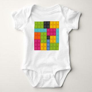 pink building blocks baby bodysuit