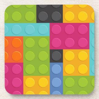 pink building blocks coaster