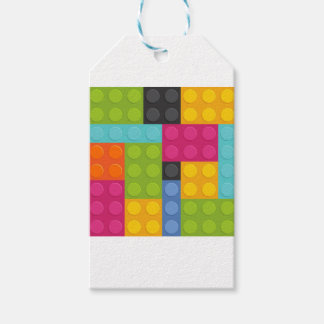 pink building blocks gift tags
