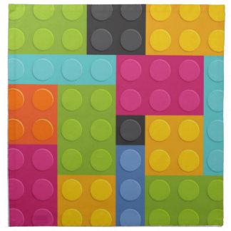 pink building blocks napkin